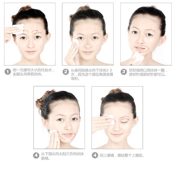 这是化妆水的正确使用步骤~~参考啦