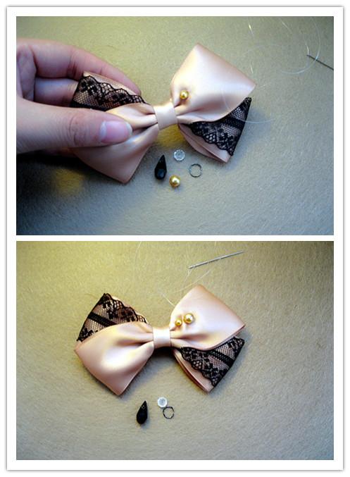 蝴蝶结发饰制作过程