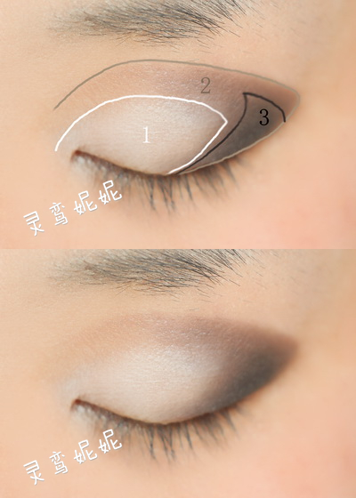 欧式眼影的画法步骤图