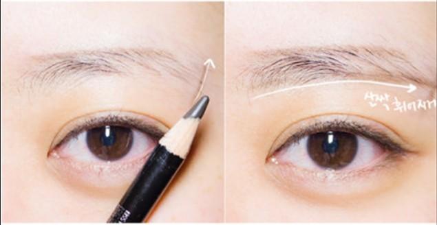 韩式一字眉的画法以及修眉方法
