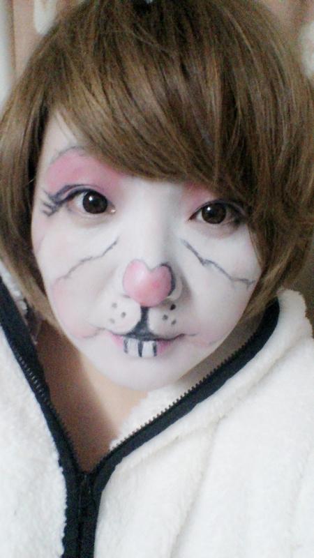 【兔】 卖萌彩绘兔子脸造型妆