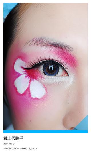 彩妆面部蝴蝶彩绘图片