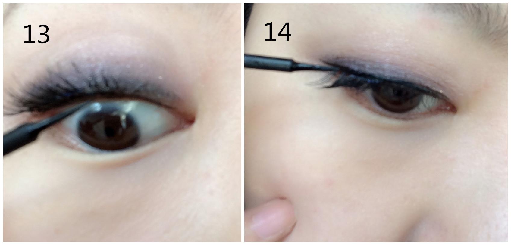 14.最后别忘了用眼线液把眼尾加重