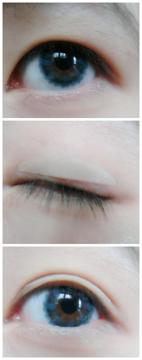 直接变成单眼皮了,所以贴双眼皮还是必不可少的步骤.