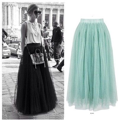 网纱裙搭配,惊艳整个夏季