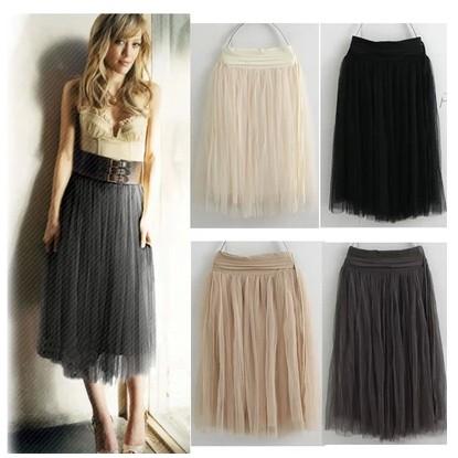 id=38694329106 正品韩国代购 欧美高腰网纱裙半身长裙 时尚街头系带图片