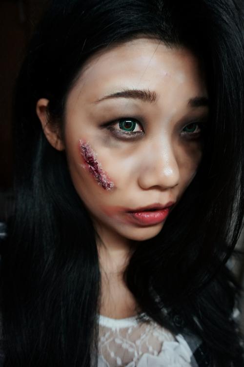 【万圣节主题妆容】嗜血喰种——伤疤教程