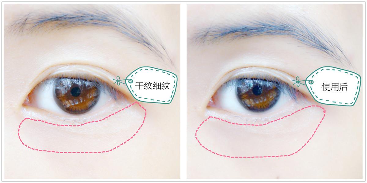 经过精致的眼部护理步骤后