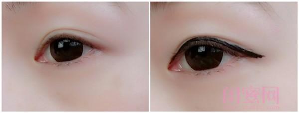 眼线的画法步骤图 淡妆