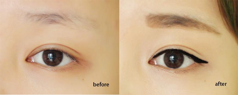然后我们就可以在这样的眼线基础上加上各种自己图片