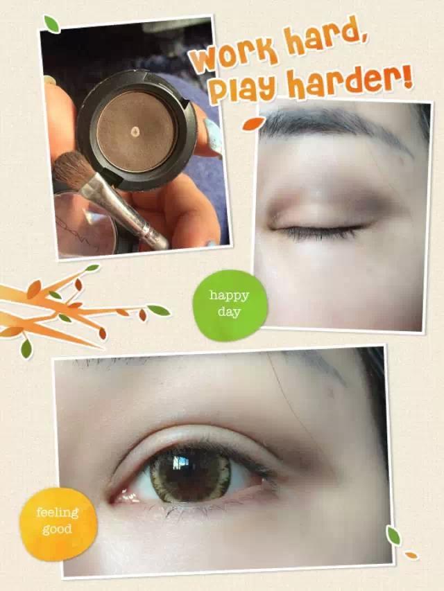 软性眼线笔画内眼线和下眼线,下眼线可以往外扩展一点点,但眼睛已经