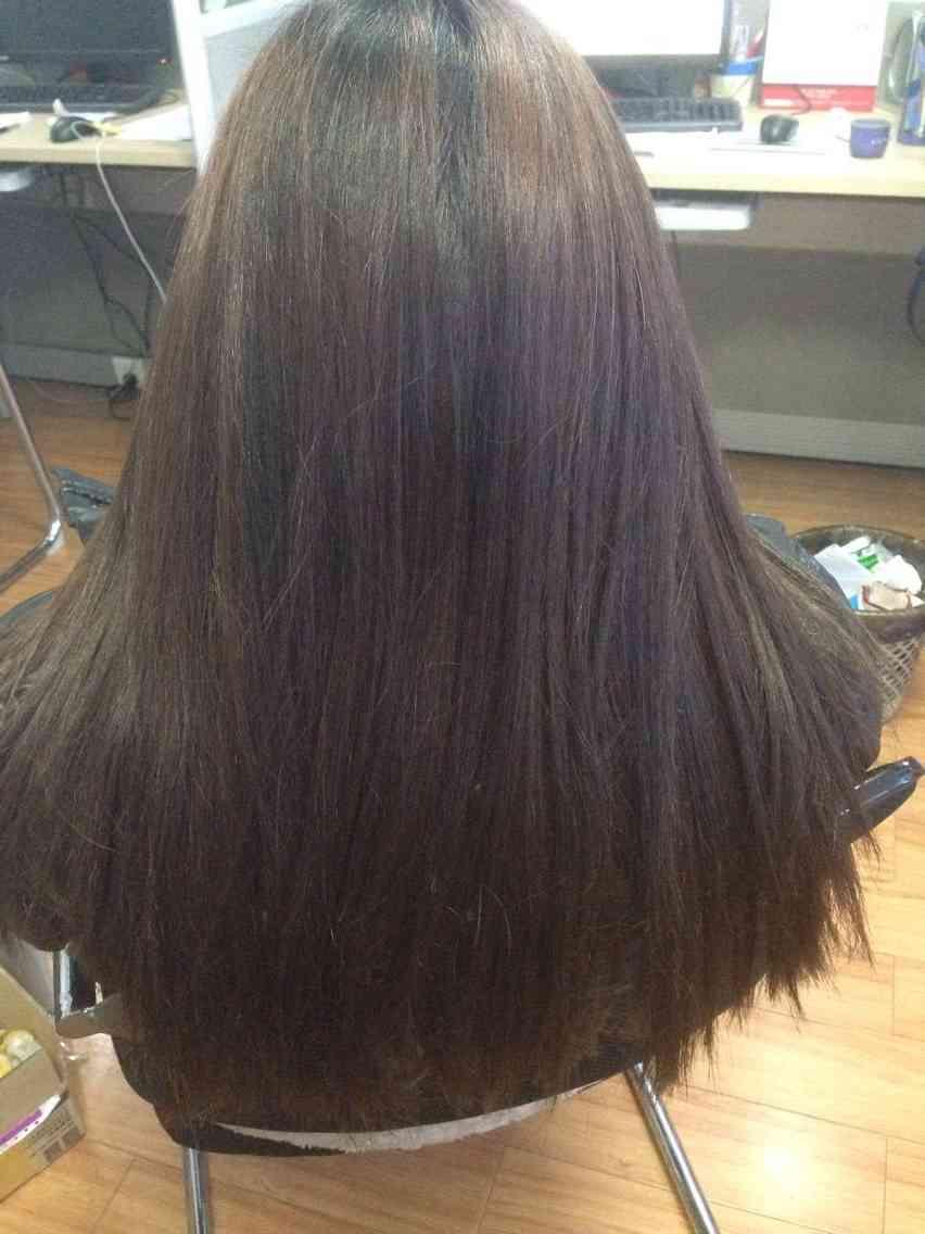 一缕头发很难看到效果,下面就有请我的美女同事友情出场咯!