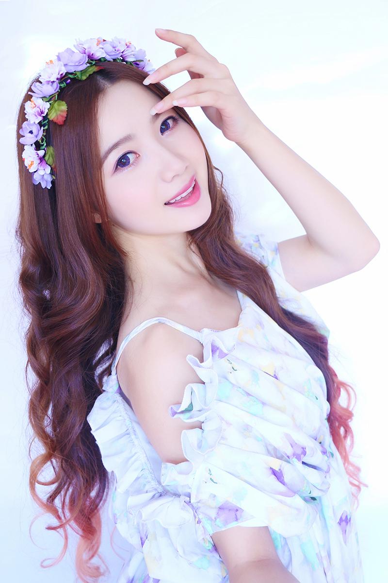 美妆-韩系甜媚紫眸仙气妆图片