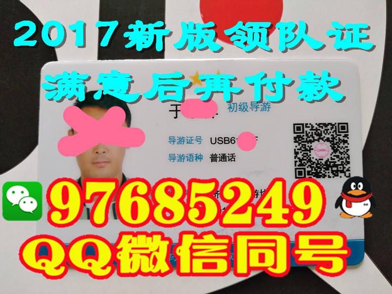 辽宁省2017年领队证样子
