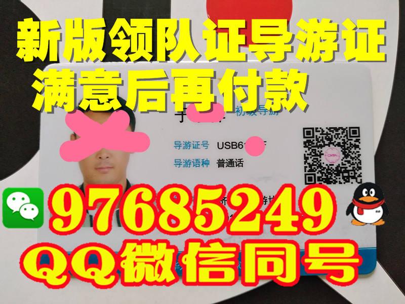 河北省2017年新版领队证图片