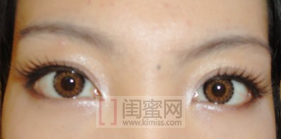 天使三色棕色美瞳效果图