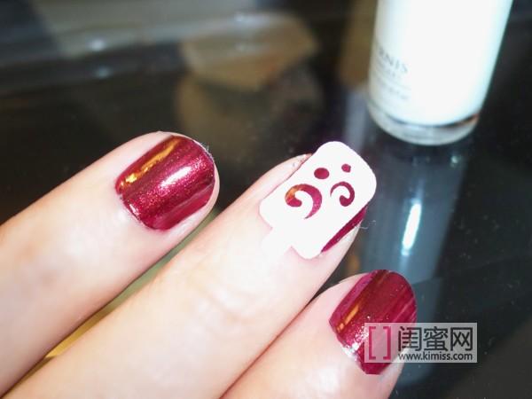 【美甲新时尚】指甲上的中国水墨画  新型免胶水贴甲片图片